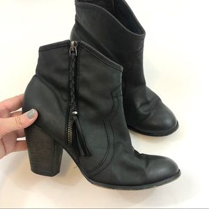 ALDO Heeled Leather Ankle Booties Size 8.5